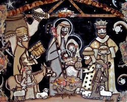 Nativity scene-love
